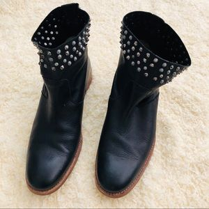 Zadig & Voltaire Studded Black Boots (LIKE NEW)